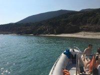 Il nostro gommone in mare