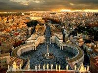 La vista dalla cupola di San Pietro