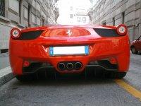 Parte posteriore di una bellissima Ferrari