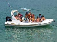 Boat trip sea sports Tropea