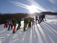 In gruppo sulla neve