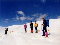 Cross-country skiing excursionist