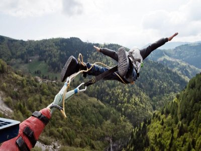 Bungee jumping con foto o video in Valgadena 175mt