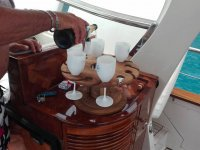 Appetizer in boat