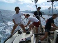 Lavorando sulla barca