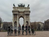 tour gruppo in bici a Milano