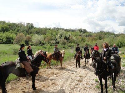 Passeggiata a cavallo sulle vie dell'olio sabino