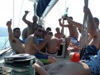 Farewell to bachelorhood on a sailing boat