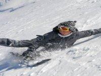 Un tuffo sulla neve
