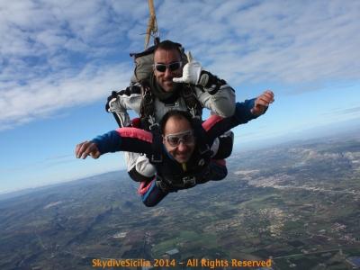 Lancio tandem in paracadute a Siracusa da 4000m