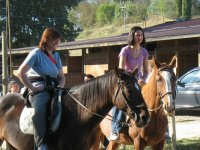 In excursion with horses