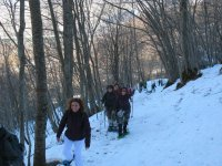 Abruzzo with snowshoes