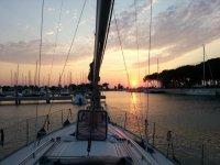 prua tramonto