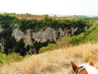 Canyon a cavallo