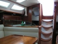 The interiors of the boat