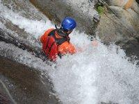 Scivolando in acqua