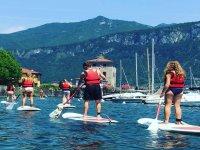 corso di paddle surf nel centro certificato di Bellagio