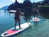 Lezioni di paddle surf nel Lago di Como