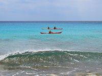 percorrere in canoa la costa