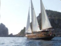 With three sails