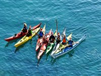 Kayaking in the sea