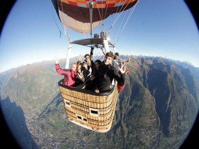 Voli in mongolfiera per gruppi in Valle d'Aosta