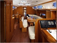 The interior of a boat