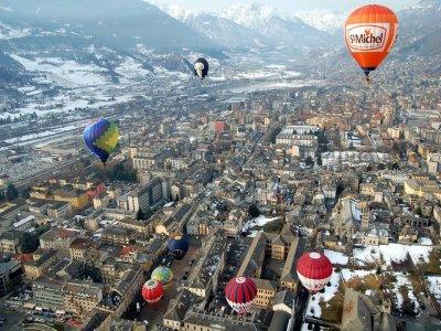 Balloon flight in Valle d'Aosta