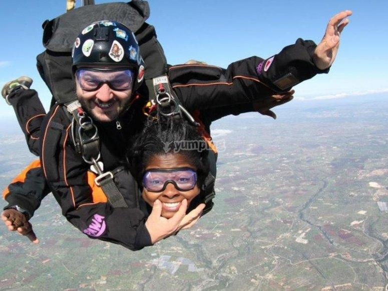 Il salto tandem è divertimento!