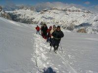 Snowshoeing in Marmolada