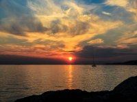 Sul mare al tramonto