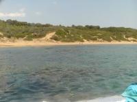 La costa vista dalla barca