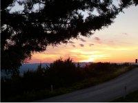 La meravigliosa location al tramonto