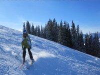 Un ragazzo che scia
