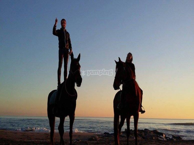 Tramonto a cavallo