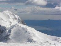 The snowy peaks
