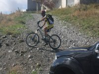 dirt road and bike