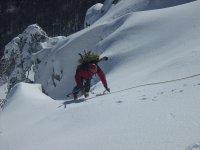 scalata sulla neve