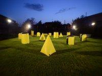 il nostro campo in notturna