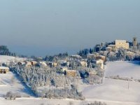 Snowshoes on the Modena Apennines