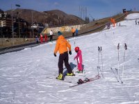 First steps on skis
