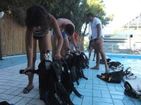 Lezione in piscina