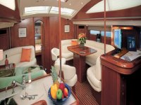 Interiors modern and functional sailing boats