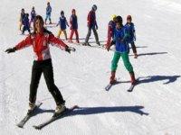 Lezione di sci in gruppo