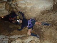 In cave