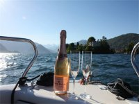 Romantic toast by boat