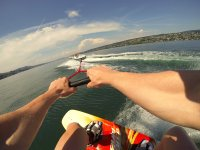 Prospettiva wakeboarder