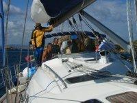 Equipaggio su barca a vela