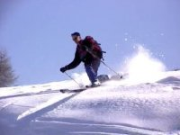 Downhill skiing and mountaineering