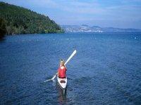 Corsi di kayak sul lago